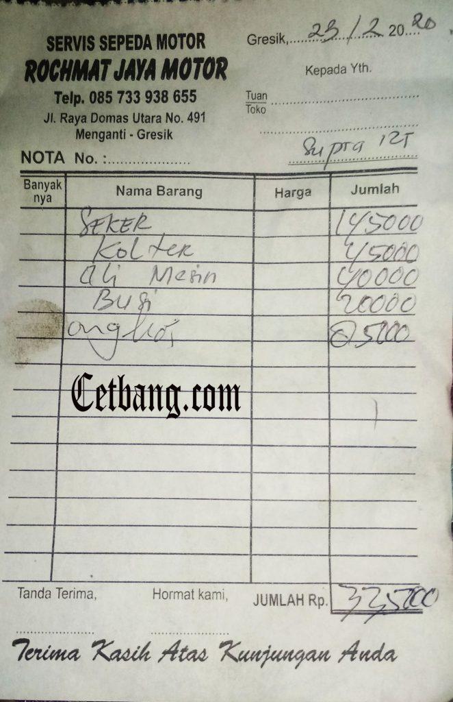 Biaya Turun Mesin Motor Honda Supra X 125