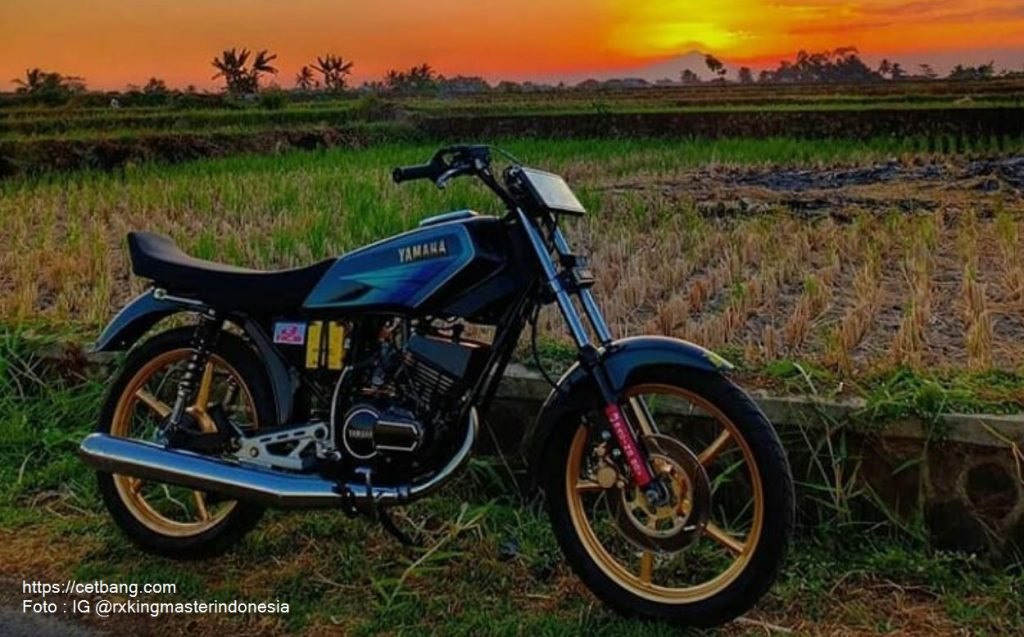 Foto modifikasi Yamaha RX King pelek palang atau bintang