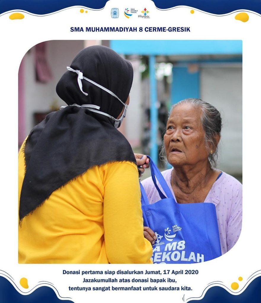 SMA Muhammadiyah 08 Cerme Gresik Peduli Wabah Covid-19