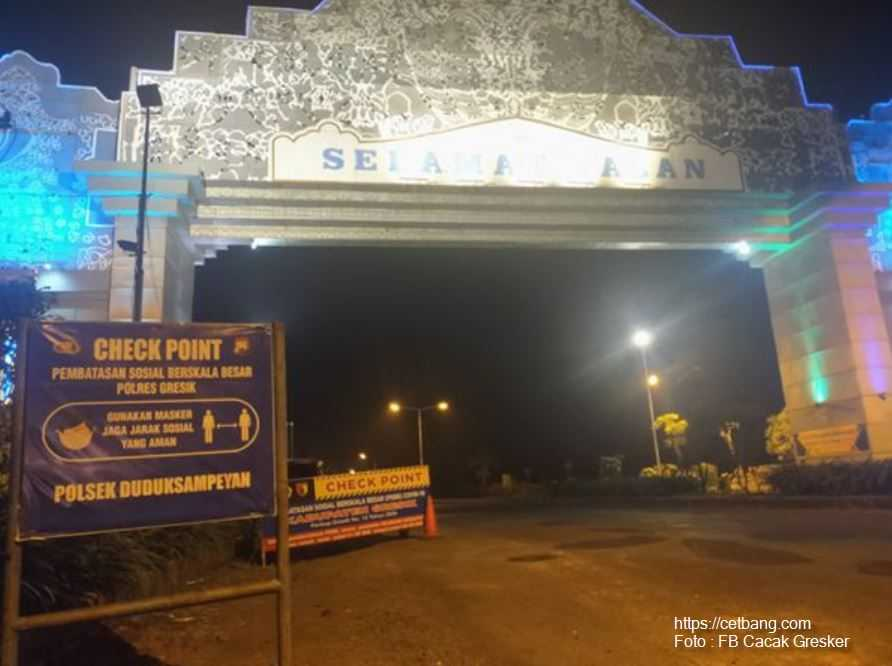 Check Point PSBB di Posko Perbatasan Gresik-Lamongan
