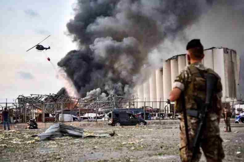 Ledakan Dahsyat Mengguncang ibu Kota Lebanon Beirut