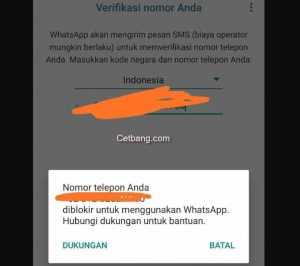WhatsApp Bisnis yang Kena Blokir Permanen