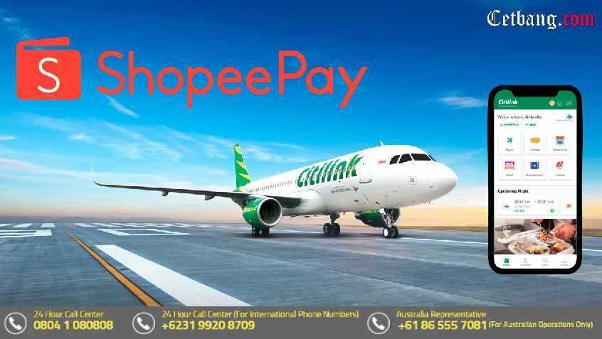 Cara Bayar Tiket Citilink dengan ShopeePay Melalui Mobile Apps Betterfly Citilink
